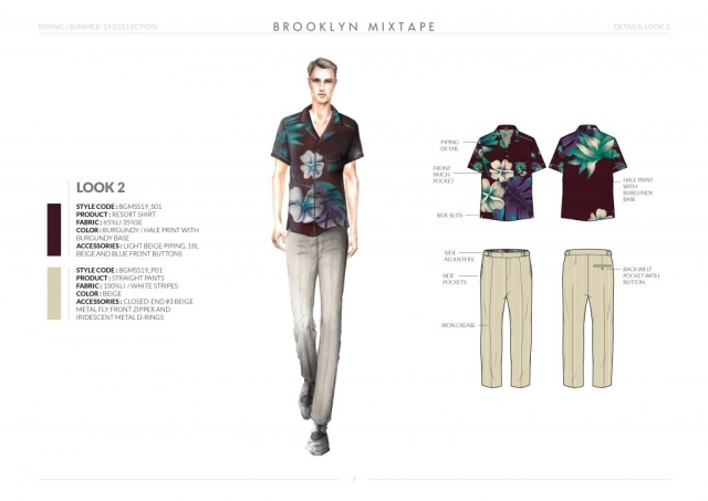 Spring-Summer-19 Mens Collection Details: Look 2