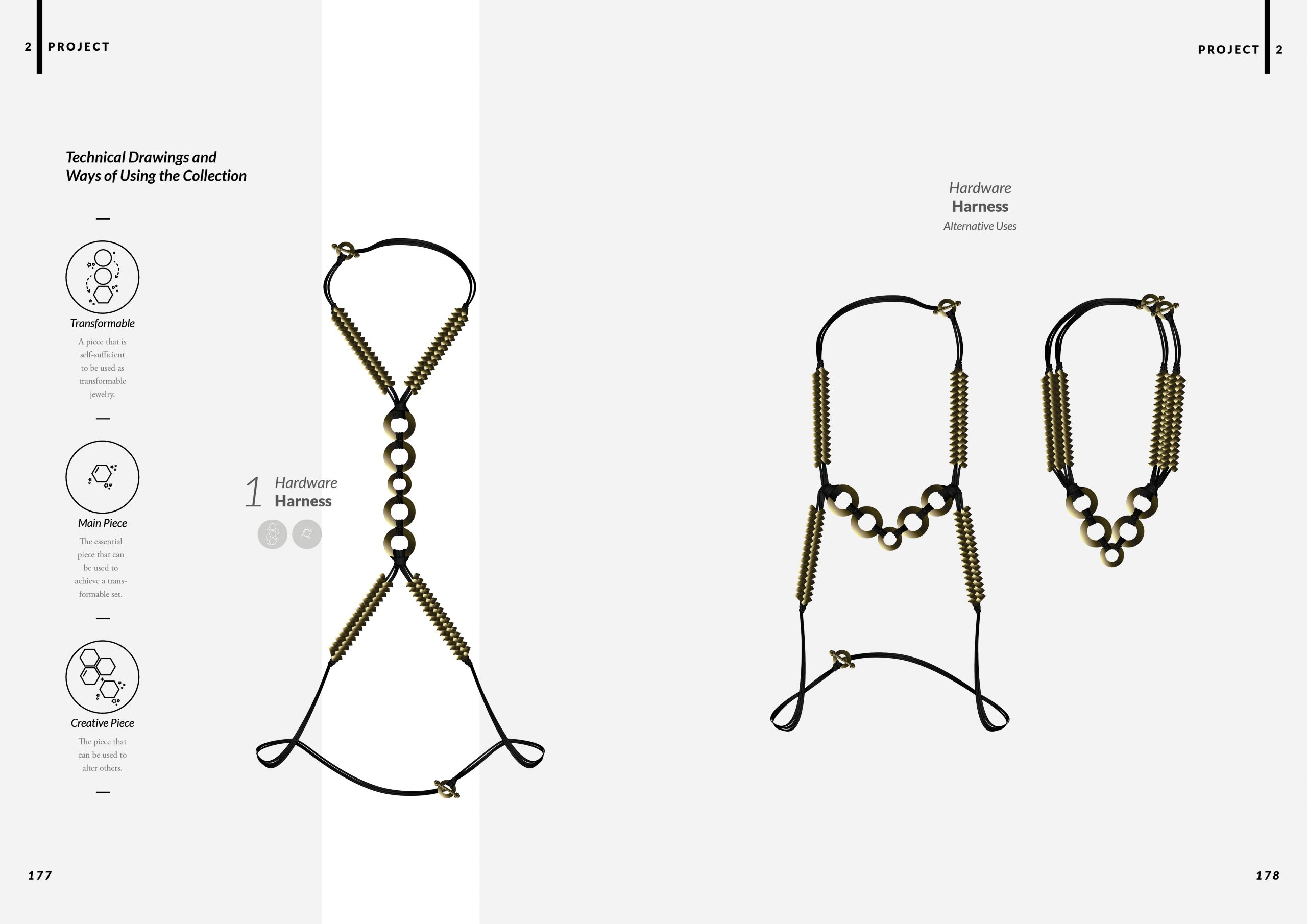 Harness: Highlighted Silhouettes - Jewelry Masters Thesis - Project