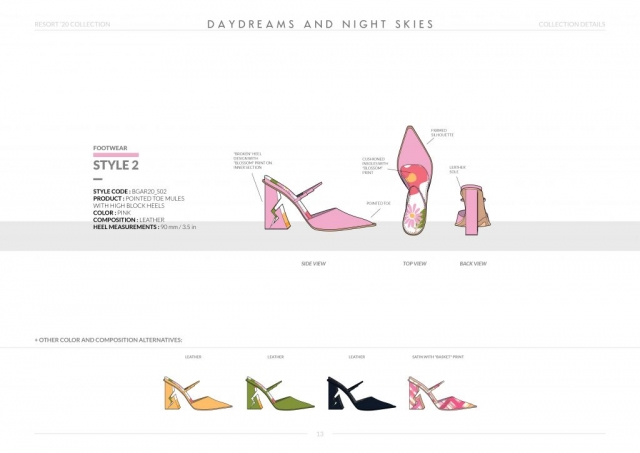 Resort-20 Womens Footwear Collection Details: Style 2