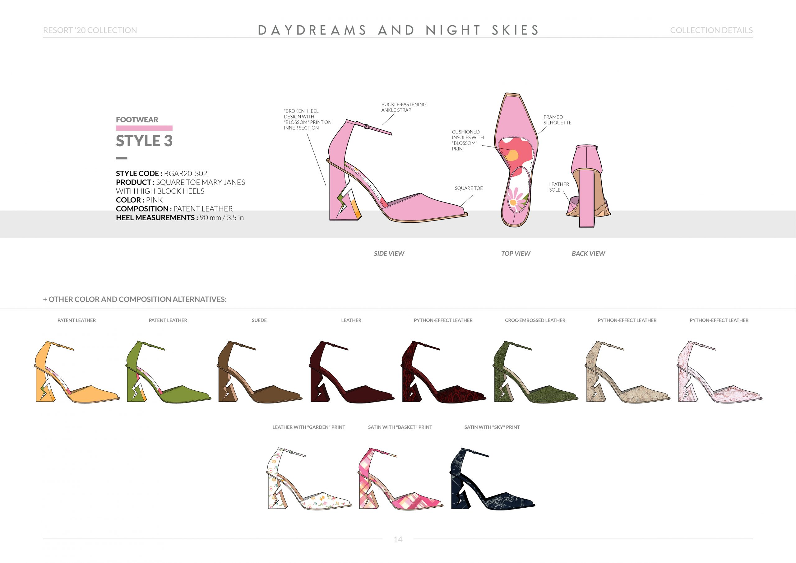 Resort-20 Womens Footwear Collection Details: Style 3