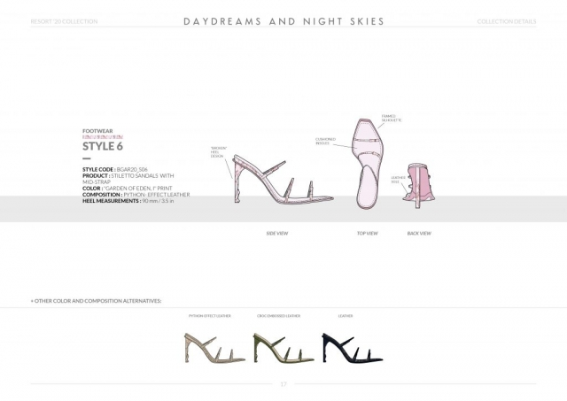 Resort-20 Womens Footwear Collection Details: Style 6