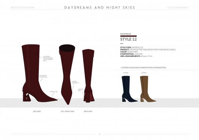 Resort-20 Womens Footwear Collection Details: Style 12