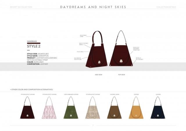 Resort-20 Womens Handbag Collection Details: Style 2